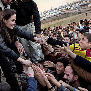 Angelina Jolie at Refugee Camp in Iraq January 2015