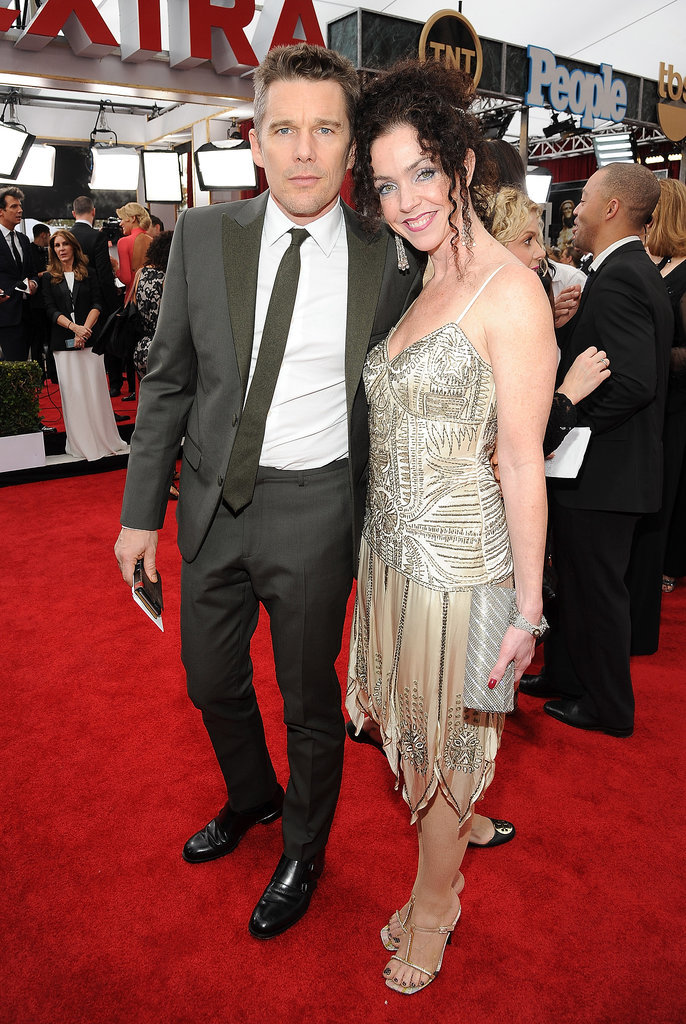 Ethan Hawke had the support of his sister, Heather Rutledge, at the SAG Awards.
