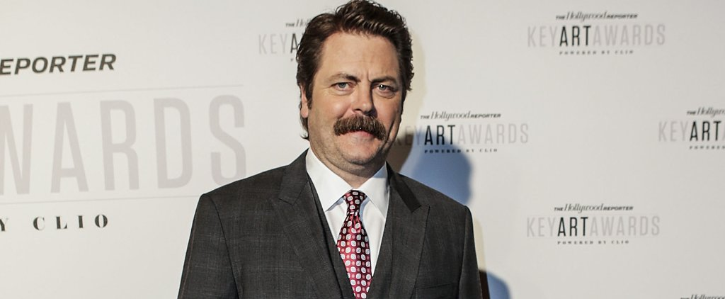 Nick Offerman Without His Mustache Might Emotionally Scar You