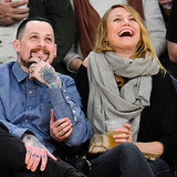 Cameron Diaz and Benji Madden on Kiss Cam | January 2015