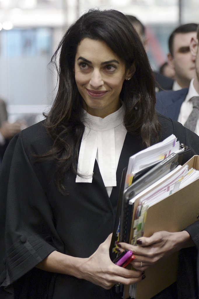Amal Clooney in Court in Strasbourg January 2015 ...