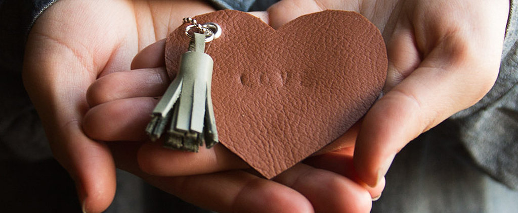 Make These Sweet DIY Leather Heart Keychains For Valentine's Day