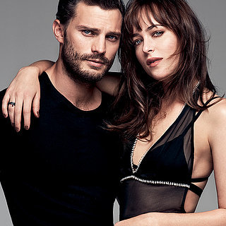 Jamie Dornan and Dakota Johnson in Glamour March 2015