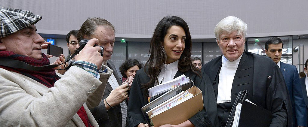 Amal Clooney Trades the Red Carpet For Court