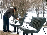 Wisconsin Park Workers Shovel Snow So Elderly Man Can Reach Wife's Memorial