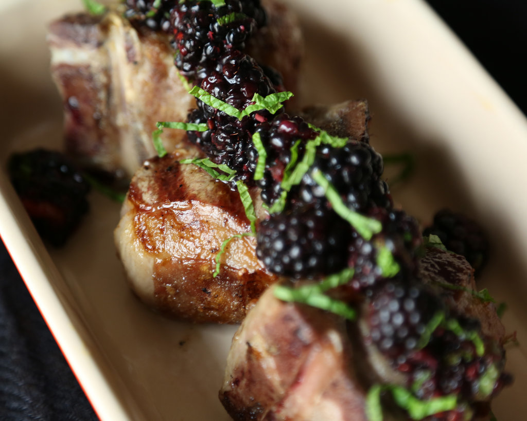 Grilled Lamb With Blackberry Relish