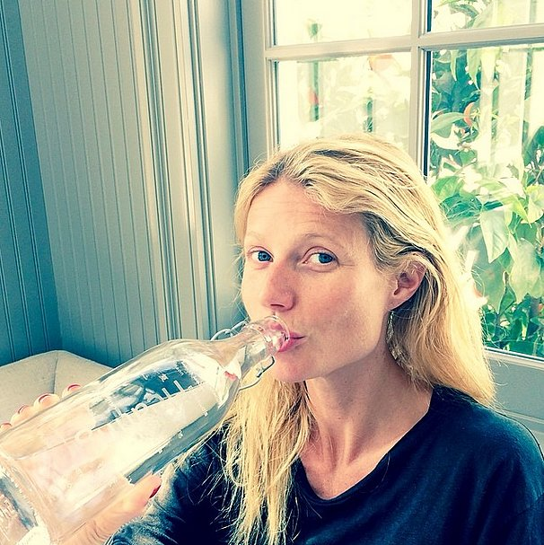 While Gwyneth Paltrow's known for eating healthy, the Goop founder also drinks an impressive amount of water to cleanse her system.