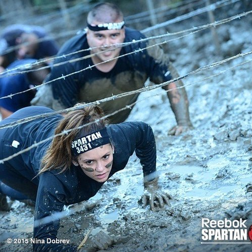 Nina Dobrev participated in the Spartan Race, which proves that yogis are seriously tough!