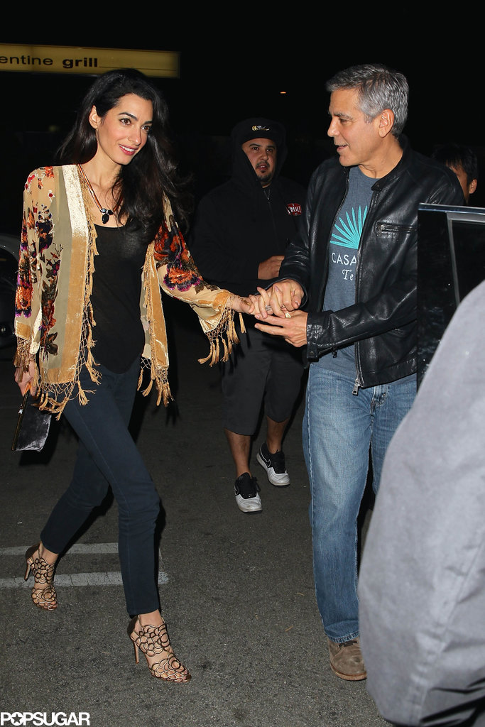 George couldn't keep his eyes off Amal during their cute date night in December 2014.