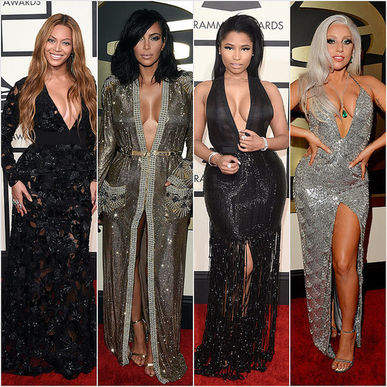Plunge Dresses at the Grammy Awards 2015