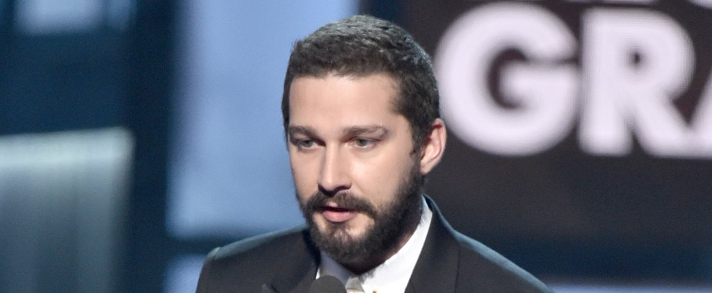 So That's What Shia LaBeouf Was Reading in Sia's Grammys Performance Intro