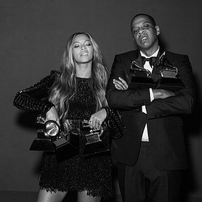 Beyonce and Jay Z Cute Photos Backstage at 2015 Grammys