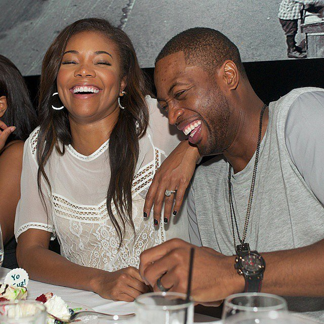 They shared a laugh at dinner in November 2014.