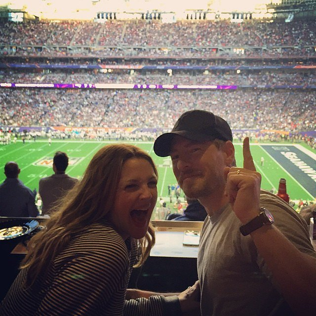 Drew and Will attended the Super Bowl together in Glendale, AZ, in February 2015.