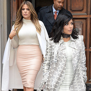 Khloe and Kim Kardashian Street Style