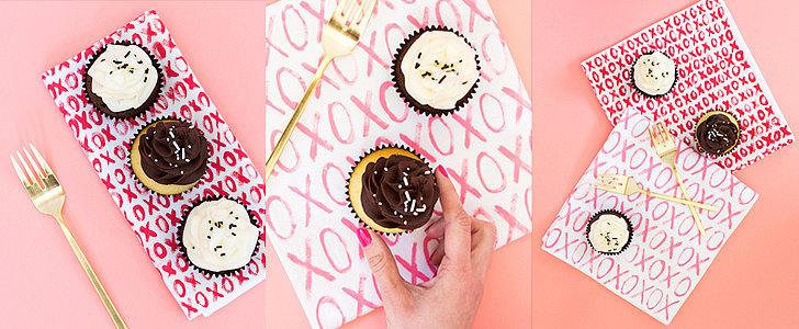Dress Up Your Valentine's Table With These Easy DIY Painted Napkins
