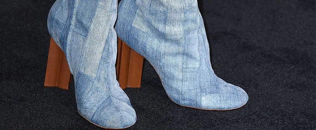 Three's a Trend: Denim Footwear