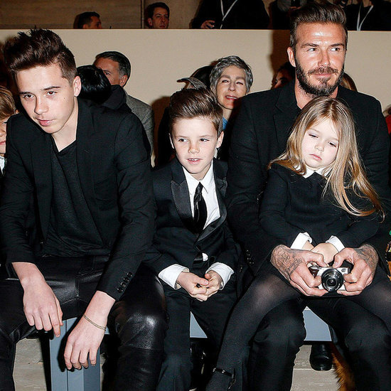 David Beckham and Kids at New York Fashion Week 2015