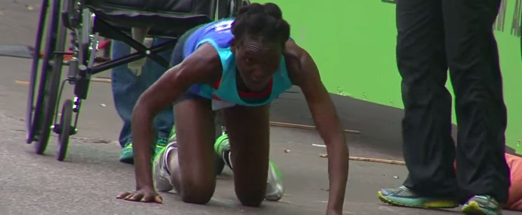 Marathon Runner Wins Third Place After Crawling Over Finish Line