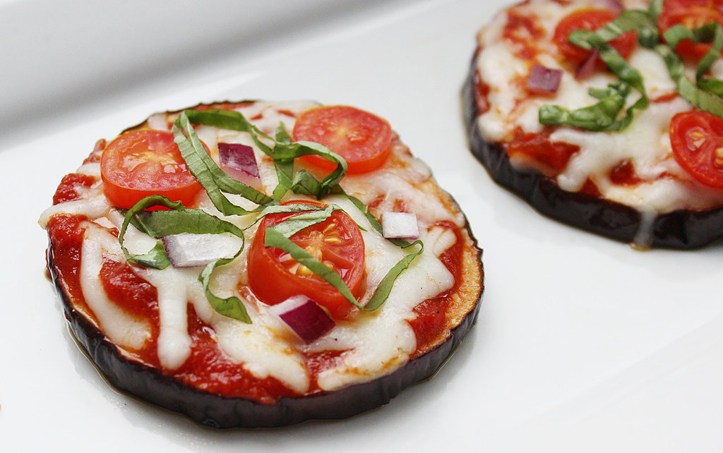 ... eggplant pizzas are an easy, elegant, and low-calorie appetizer