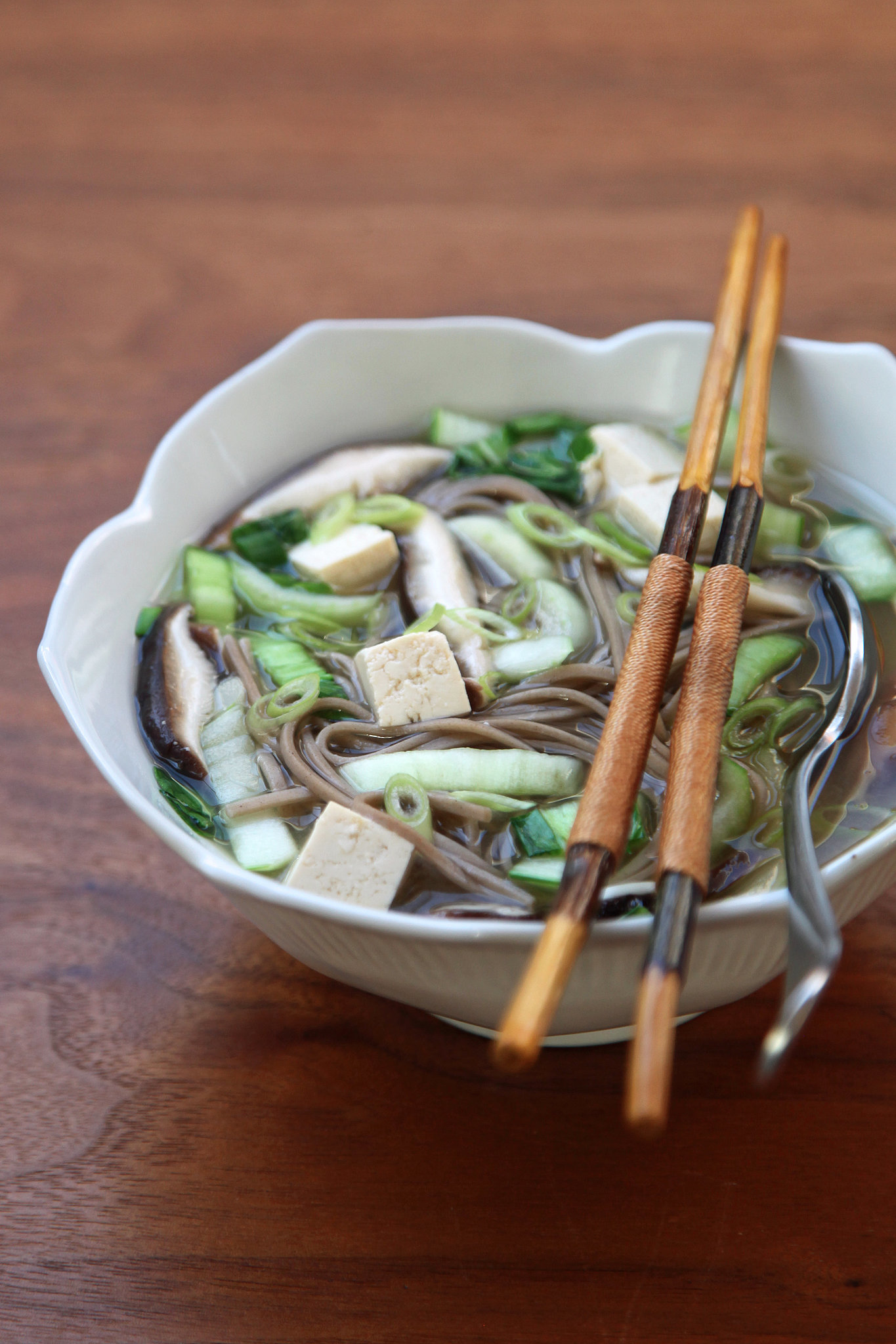 Soba Noodles With Roasted Brussels Sprouts And Walnut Miso Sauce ...