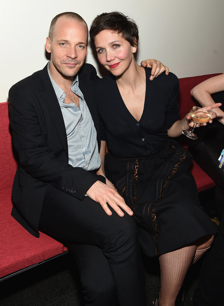 Peter Sarsgaard and Maggie Gyllenhaal stayed close at Miu Miu Women's Tales 9th Edition De Djess screening in NYC on Wednesday.