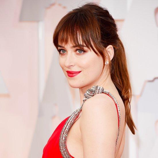 Dakota Johnson's Hair and Makeup at the Oscars 2015