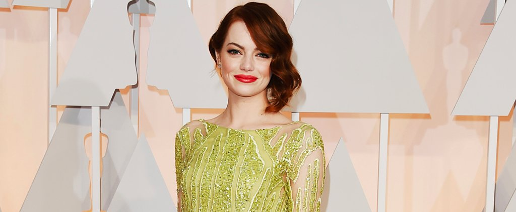 Poll: Emma Stone Is a Golden Girl in Elie Saab