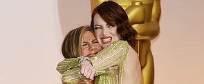 Jennifer Aniston Tried Picking Up Emma Stone at the Oscars, and It's Hilarious