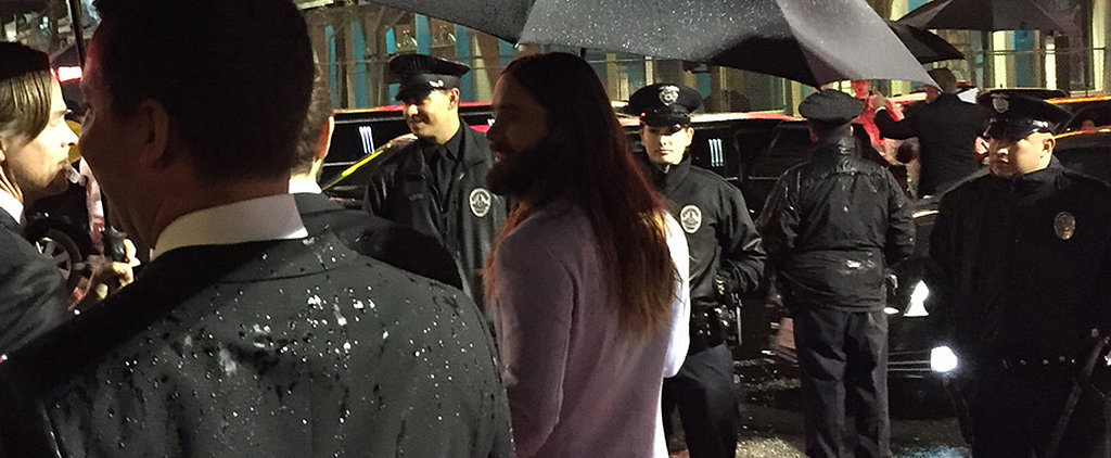 Even Jared Leto Had to Wait Outside in the Rain After the Oscars