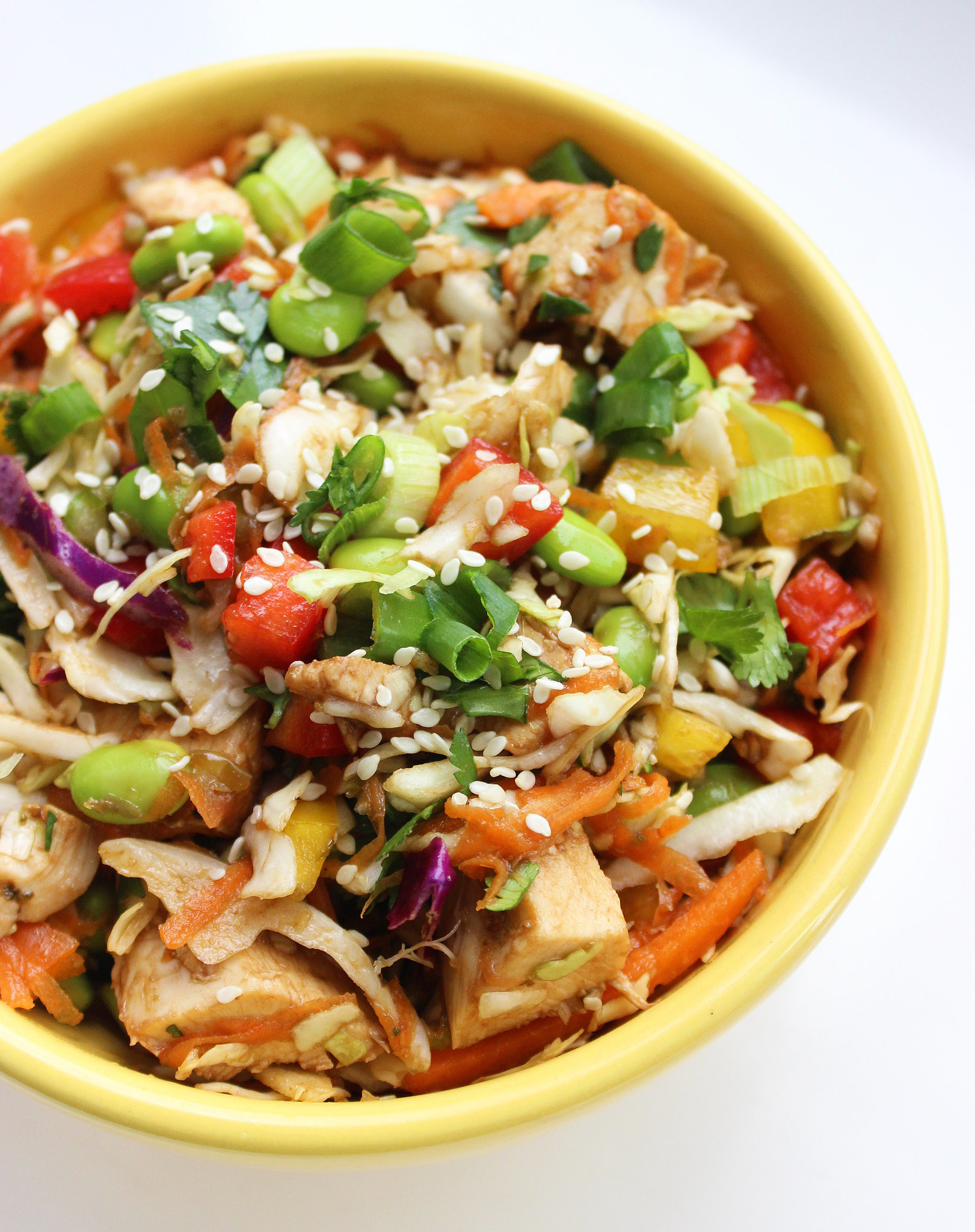 Asian Chicken Edamame Salad | Improve Your Digestion and Lose Weight ...