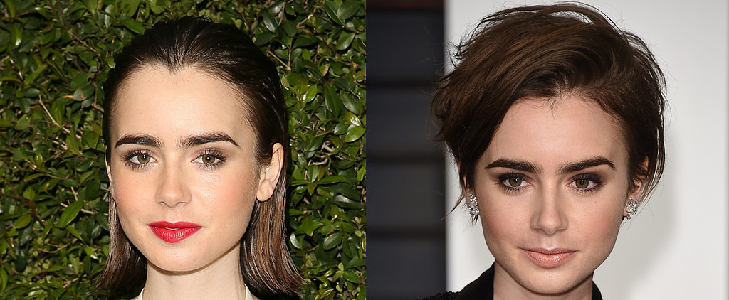 Lily Collins Debuts a New Supershort, Sexy Haircut