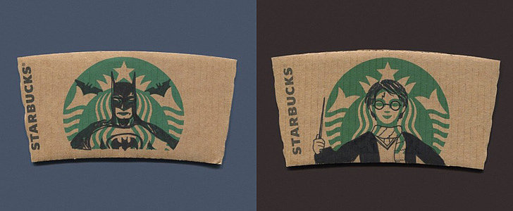 This Artists Is Turning Coffee Sleeves Into Works of Art