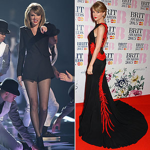 Taylor Swift Outfit Change at the 2015 Brit Awards