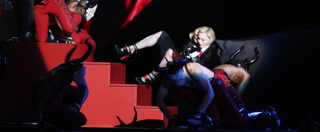 Madonna, Are You OK?! Singer Took a Tumble on Stage at the Brit Awards