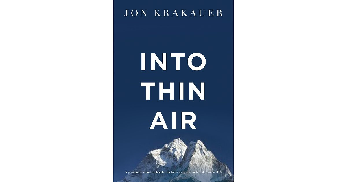Into Thin Air Summary & Study Guide