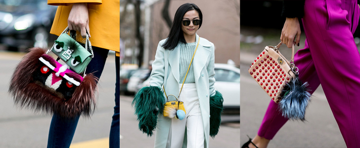 The MFW Streets Are Full of Furry Fendi Accessories