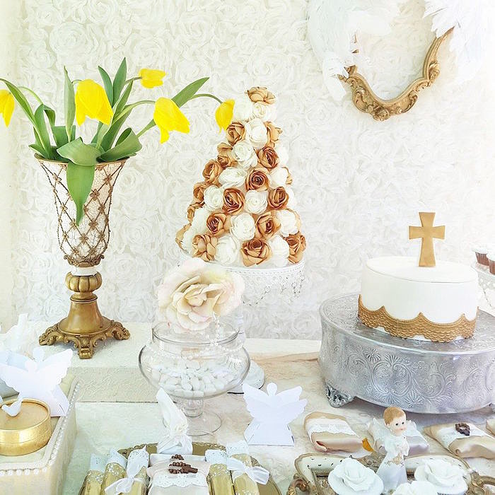 Get Inspired by This White and Gold Baptism Celebration