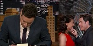 Jimmy Fallon Cracks The Best John Travolta-Idina Menzel Joke Of The Season
