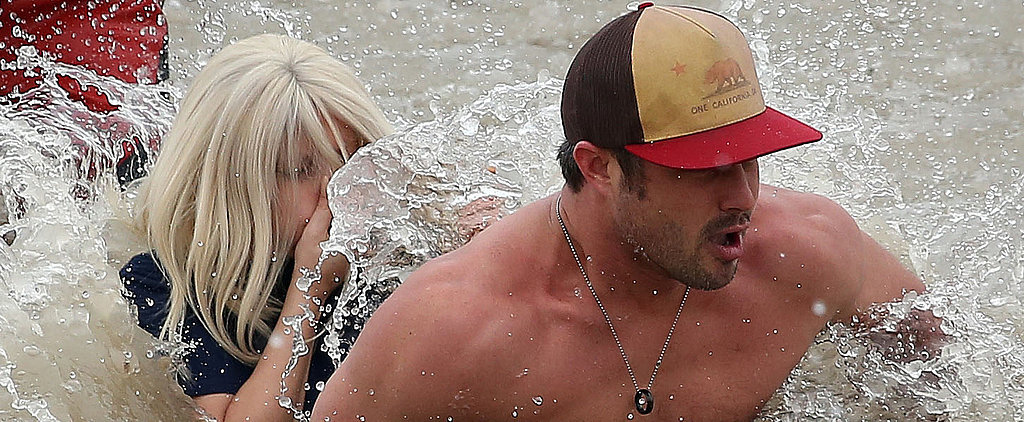 You Have to See Lady Gaga and Shirtless Taylor Kinney Take the Polar Plunge