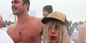 Lady Gaga Takes Polar Plunge Into Chicago's Lake Michigan For Charity