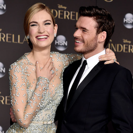 Lily James and Richard Madden at Cinderella Premiere Photos