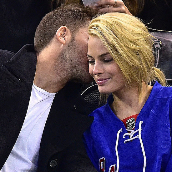 Margot Robbie and Tom Ackerley at NY Rangers Game