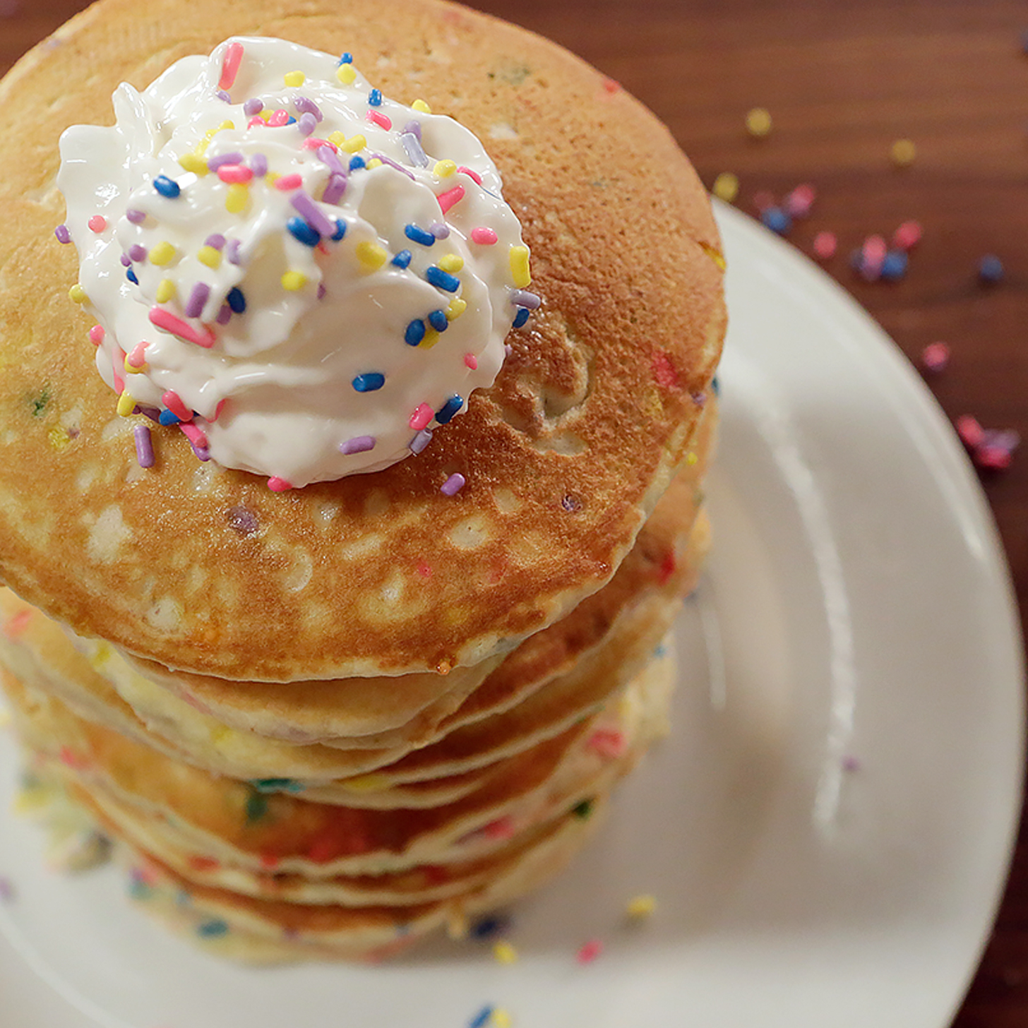 Funfetti Pancakes Worth Waking Up For . . .