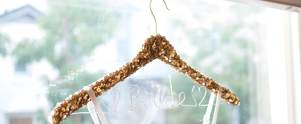 Add Some Sparkle to Your Wedding With DIY Personalized Sequined Hangers
