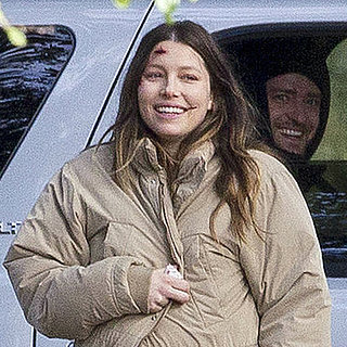 Justin Timberlake Visits Pregnant Jessica Biel on Movie Set