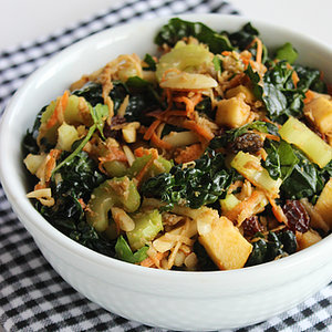 Healthy Kale, Almond, and Shredded Veggie Salad