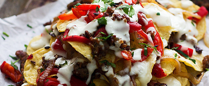 Italian-Style Sausage, Pepper, and Onion Nachos, Because Friday