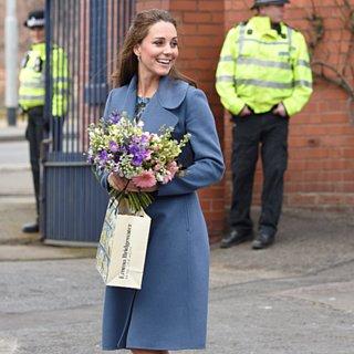 Kate Middleton Wearing a Floral Dress