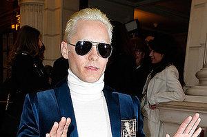 Jared Leto Also Debuted Platinum Blonde Hair At Paris Fashion Week